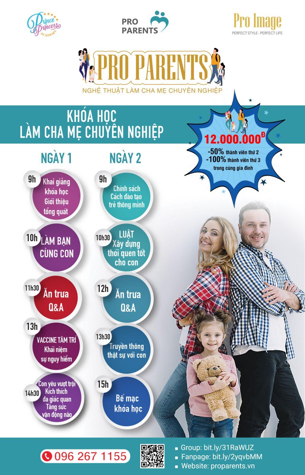 Khóa học Pro Parents - 6 chủ đề