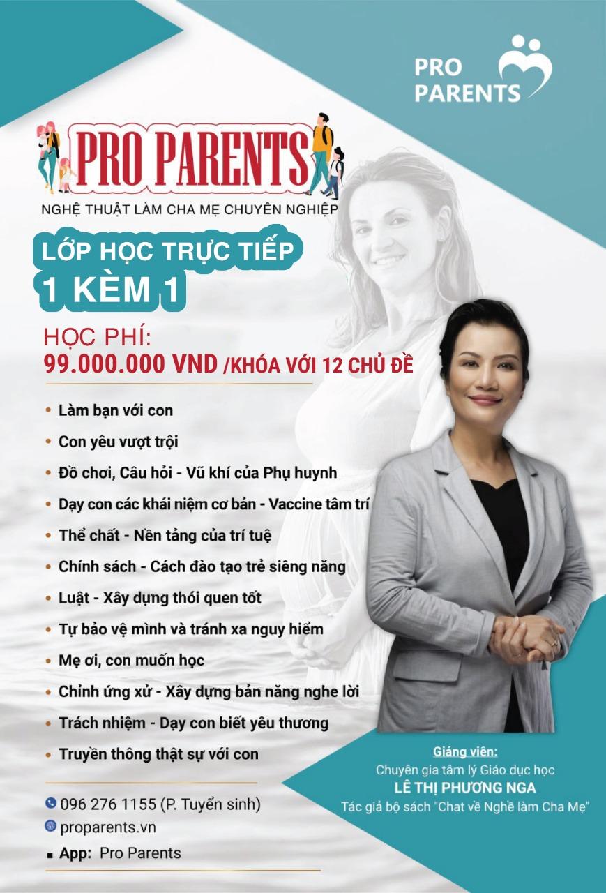 Khóa học Pro Parents 1 kèm 1 trọn gói - 12 chủ đề